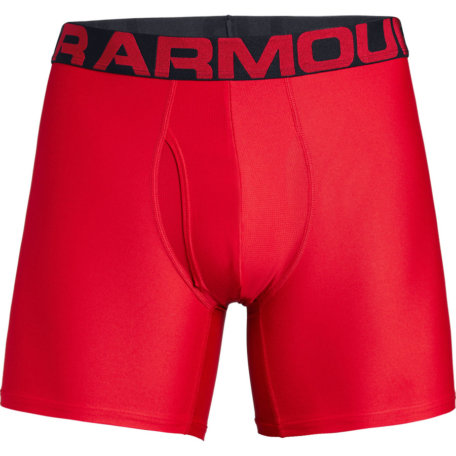 Under Armour Tech 6in 2 Pack Red - M