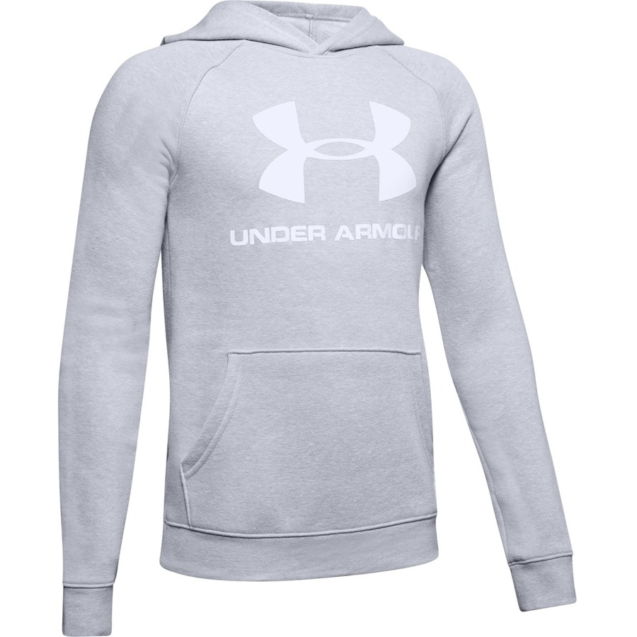 Under Armour Rival Logo Hoodie Mod Gray Light Heather - YS