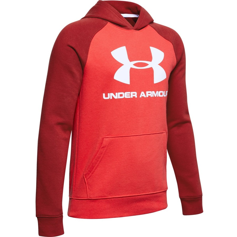 Under Armour Rival Logo Hoodie Martian Red - YS