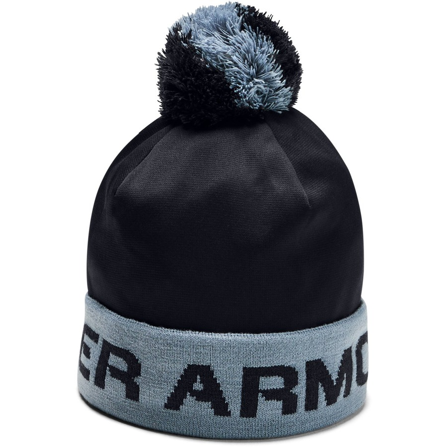 Under Armour Boys Gametime Pom Beanie Black - OSFA