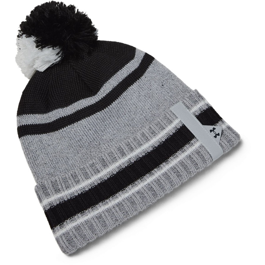 Under Armour Mens Pom Beanie Halo Gray - OSFA