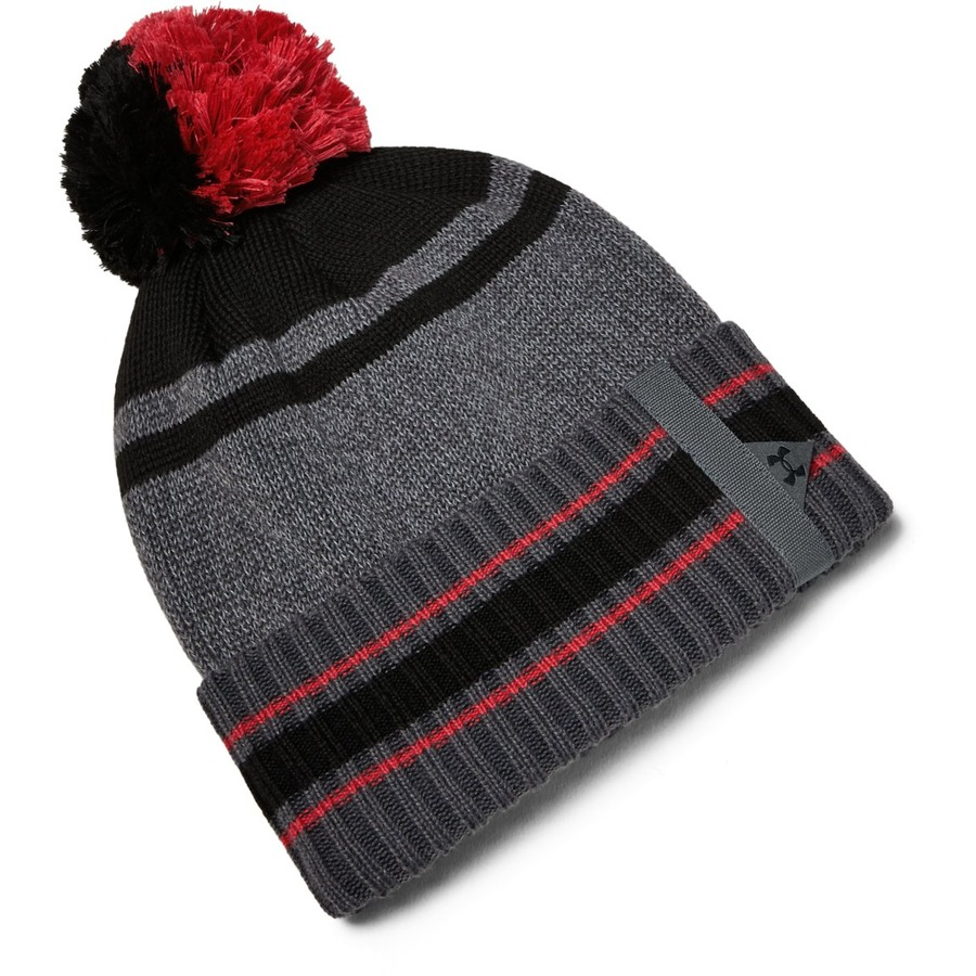 Under Armour Mens Pom Beanie Pitch Gray - OSFA
