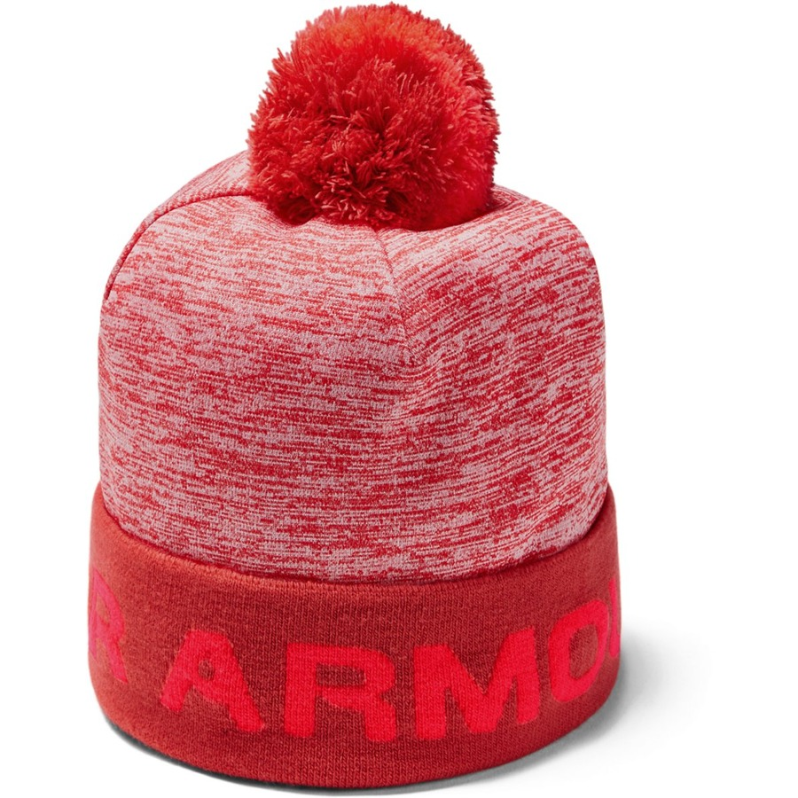 Under Armour Boys Gametime Pom Beanie Martian Red - OSFA