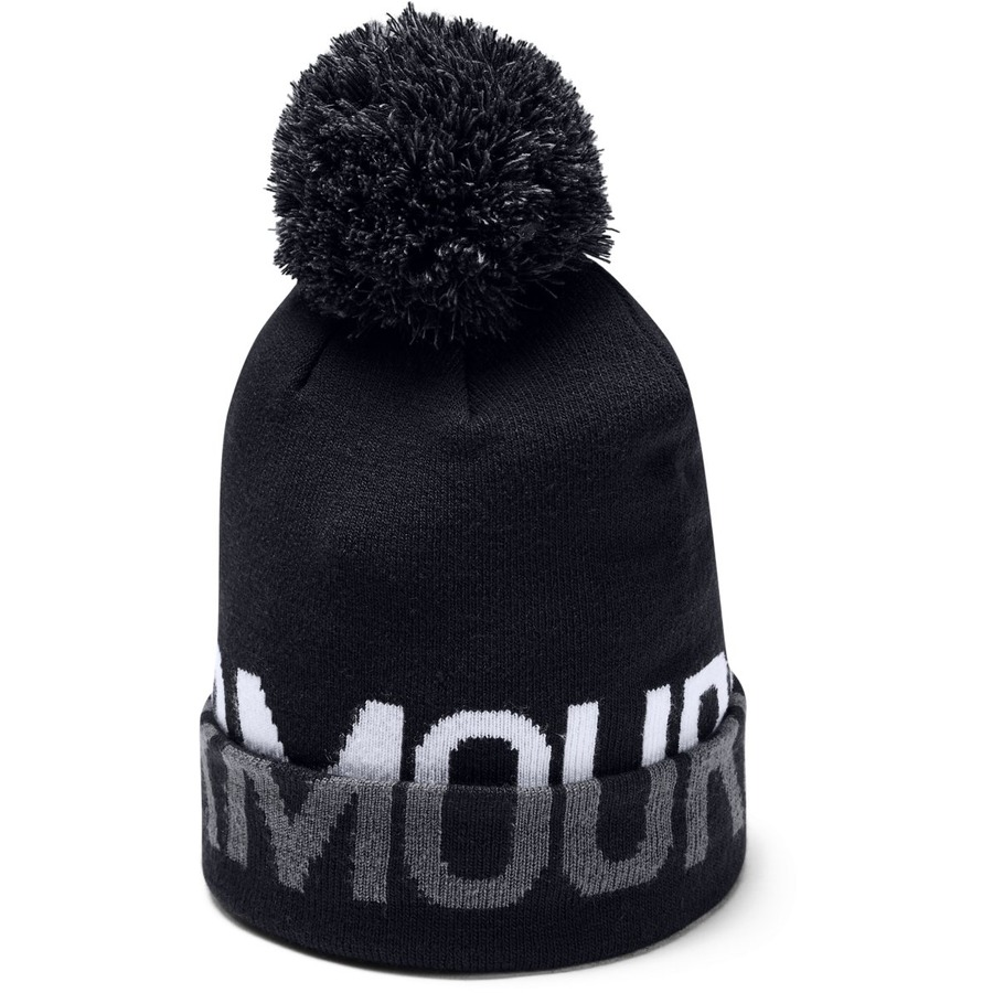 Under Armour Graphic Pom Beanie Black - OSFA