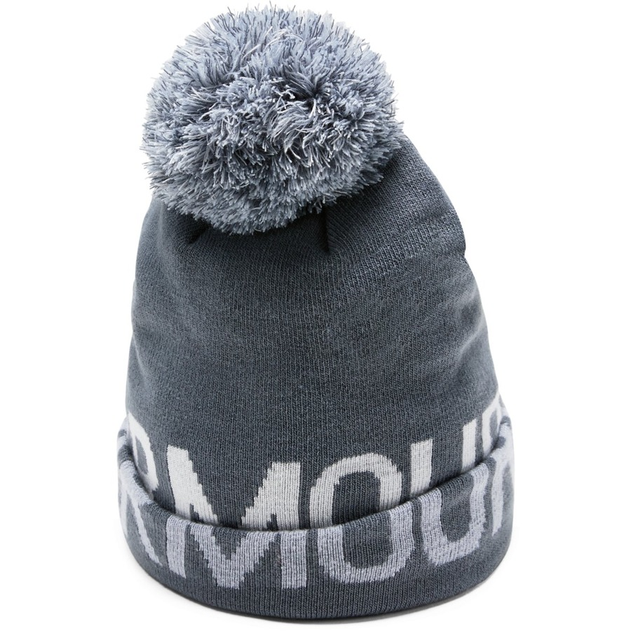 Under Armour Graphic Pom Beanie Downpour Gray - OSFA