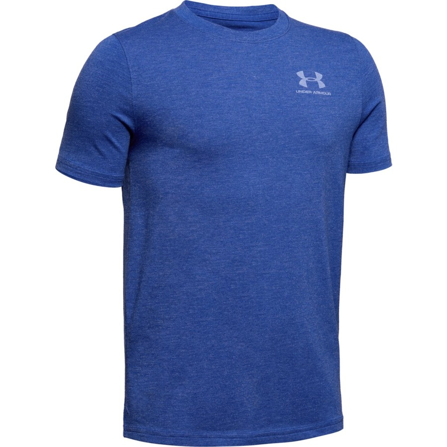 Under Armour UA Cotton SS Royal Medium Heather - YS