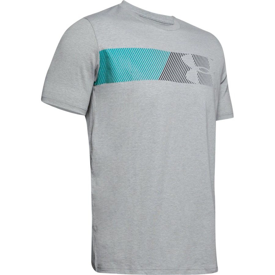 Under Armour Fast Left Chest 2.0 SS Steel Light Heather - S