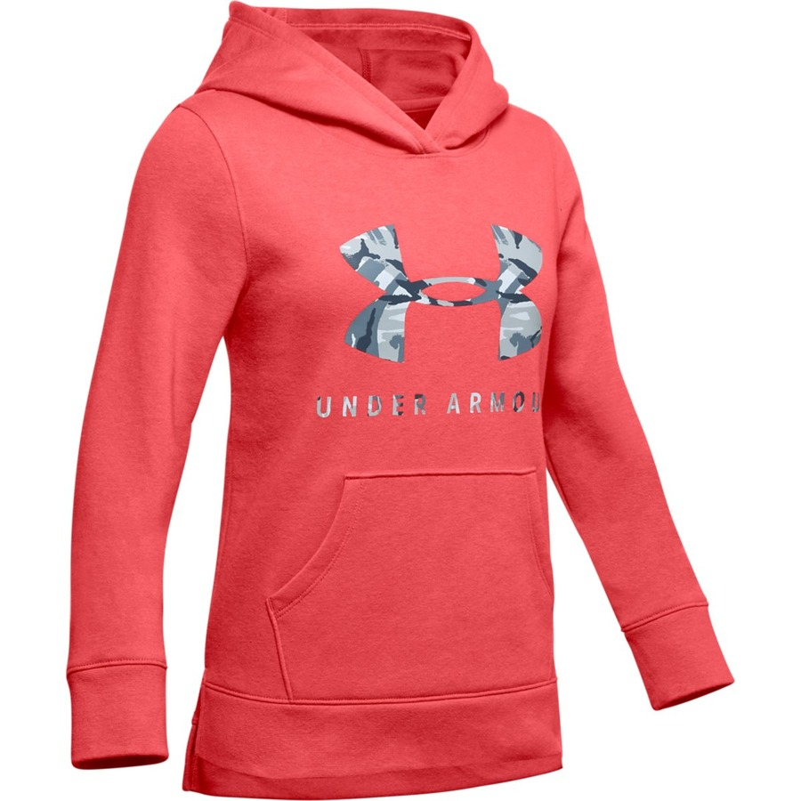 Under Armour Rival Print Fill Logo Hoodie Daiquiri - YXS