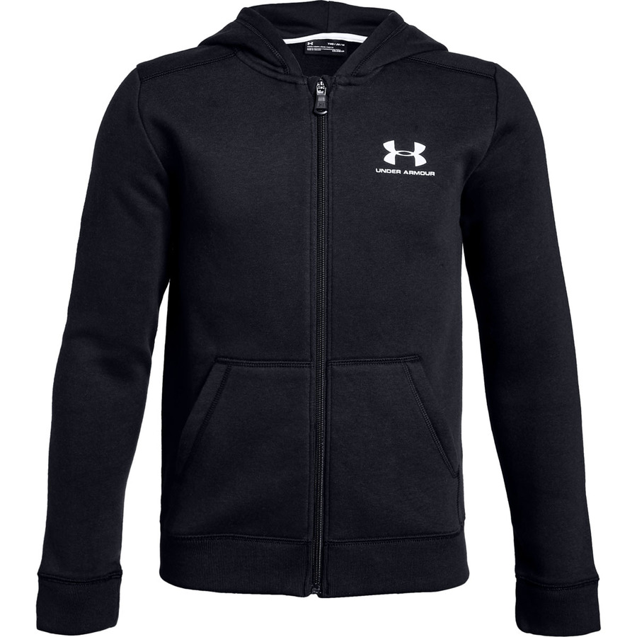 Under Armour Cotton Fleece Full Zip Black - YL