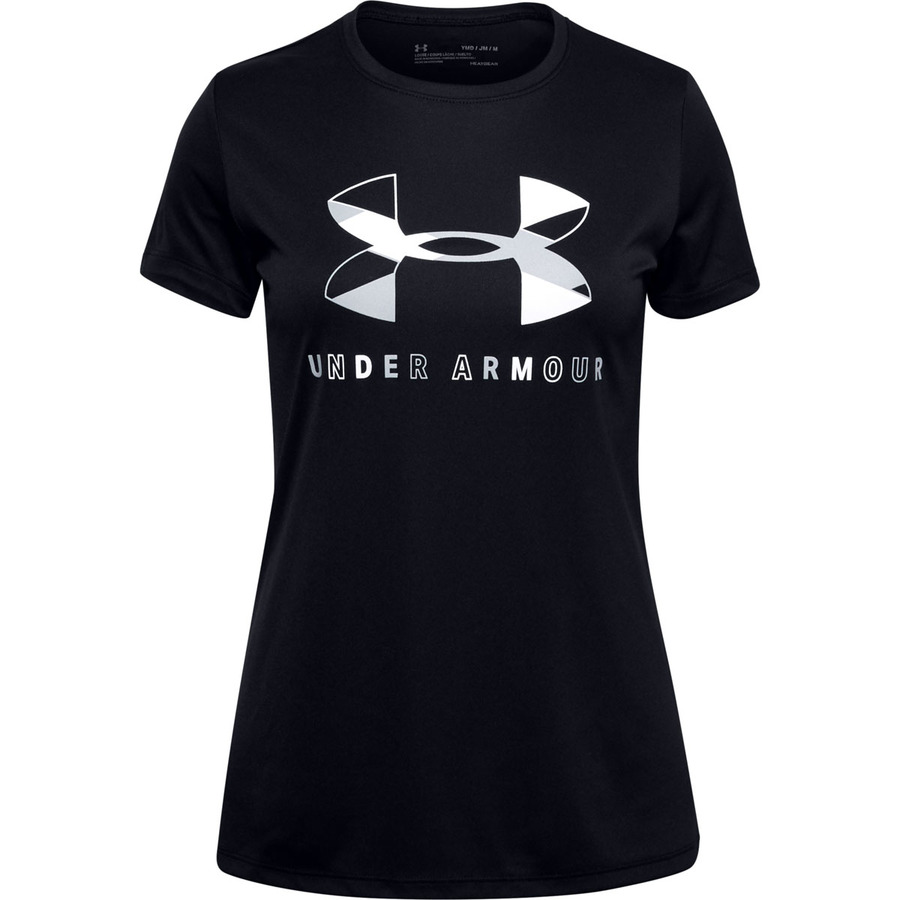 Under Armour Tech Graphic Big Logo SS T-Shirt Black - YL