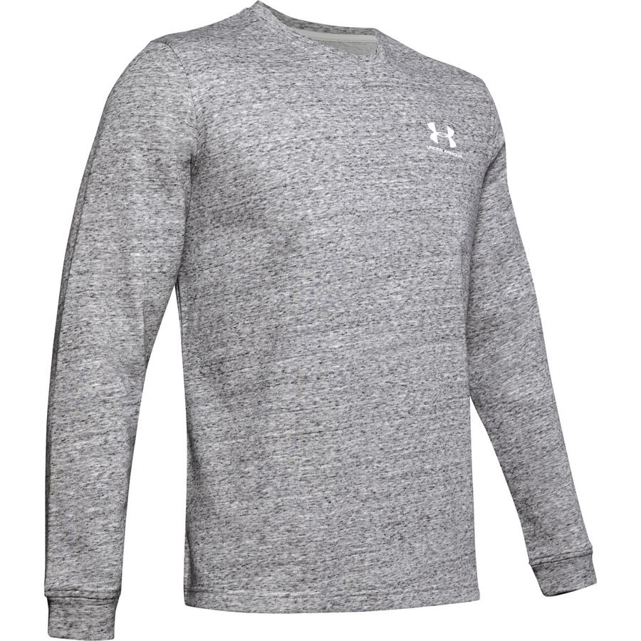Under Armour Sportstyle Terry Logo Crew Onyx White - S