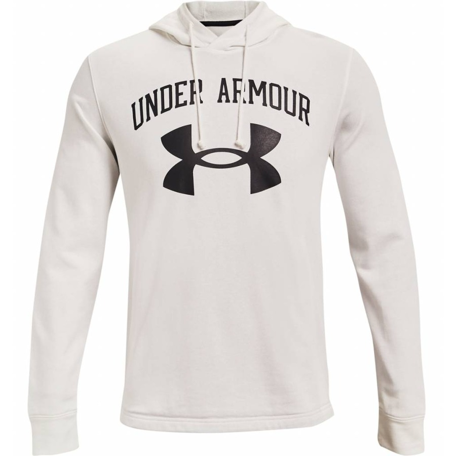 Under Armour Rival Terry Big Logo HD Onyx White - S