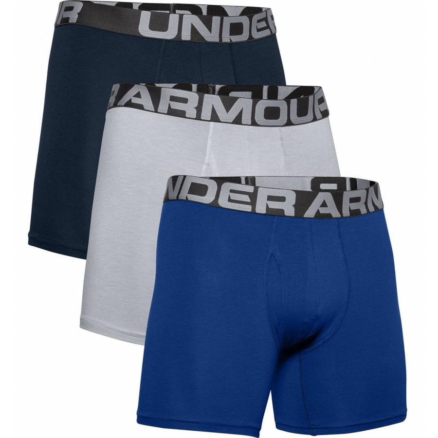 Under Armour Charged Cotton 6in 3 páry Royal - S