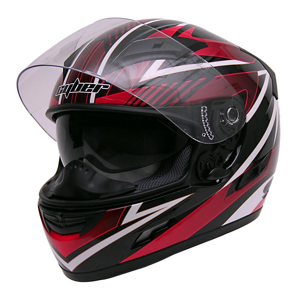 Dámská moto helma Cyber US 80 růžová - XS (53-54)
