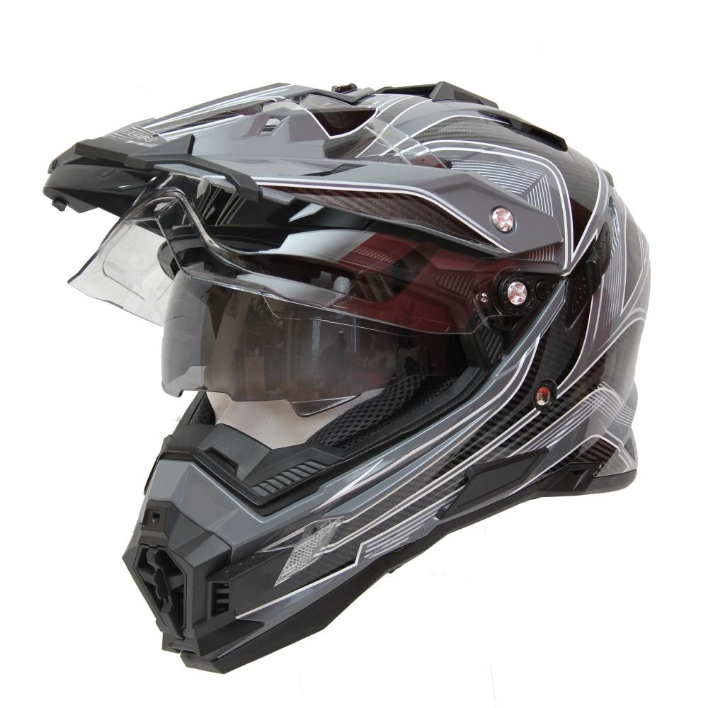 Motokrosová helma Cyber UX 33 černo-šedá - L (59-60)