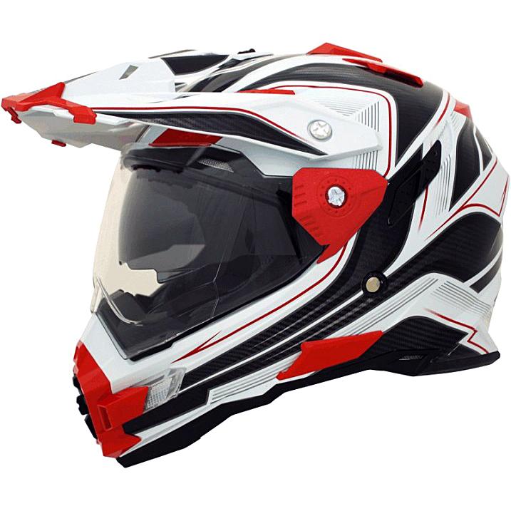 Motokrosová helma Cyber UX 33 bílo-červená - L (59-60)