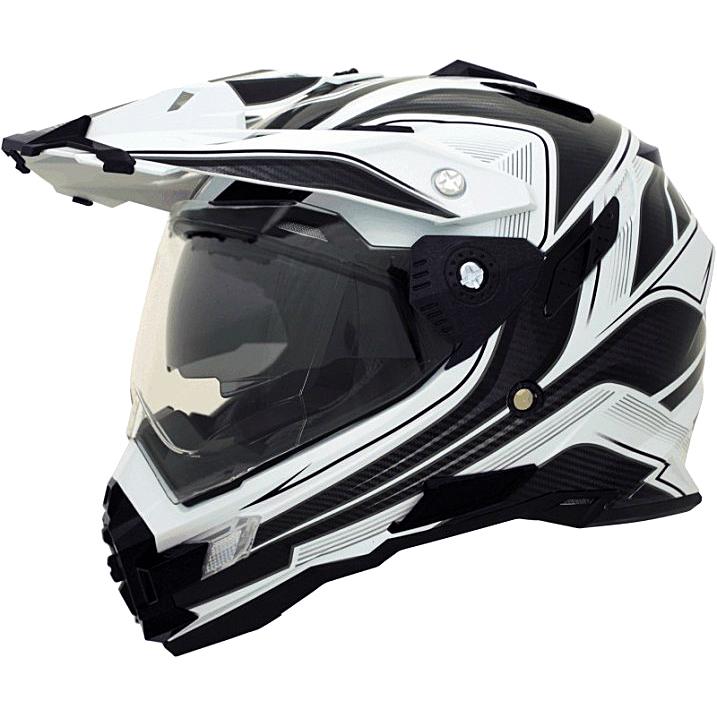Motokrosová helma Cyber UX 33 bílo-černá - L (59-60)