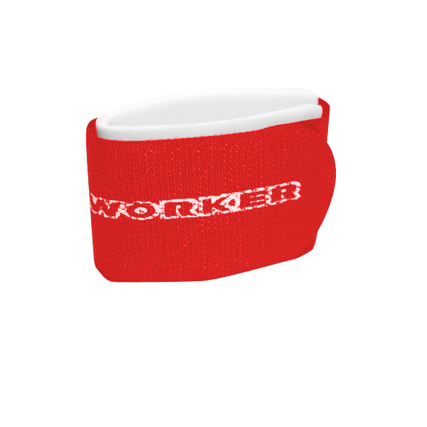 Upínací pásky na běžky WORKER červená