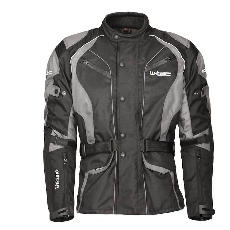 Moto bunda W-TEC Valcano černo-šedá - M