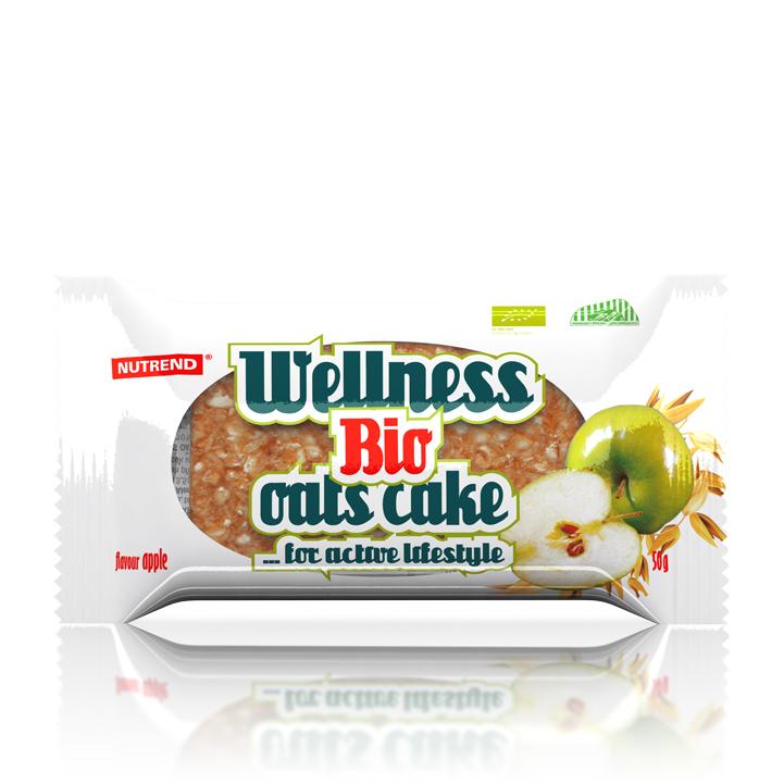 Tyčinka Nutrend Bio Wellness Oats Cake, 50g jablko