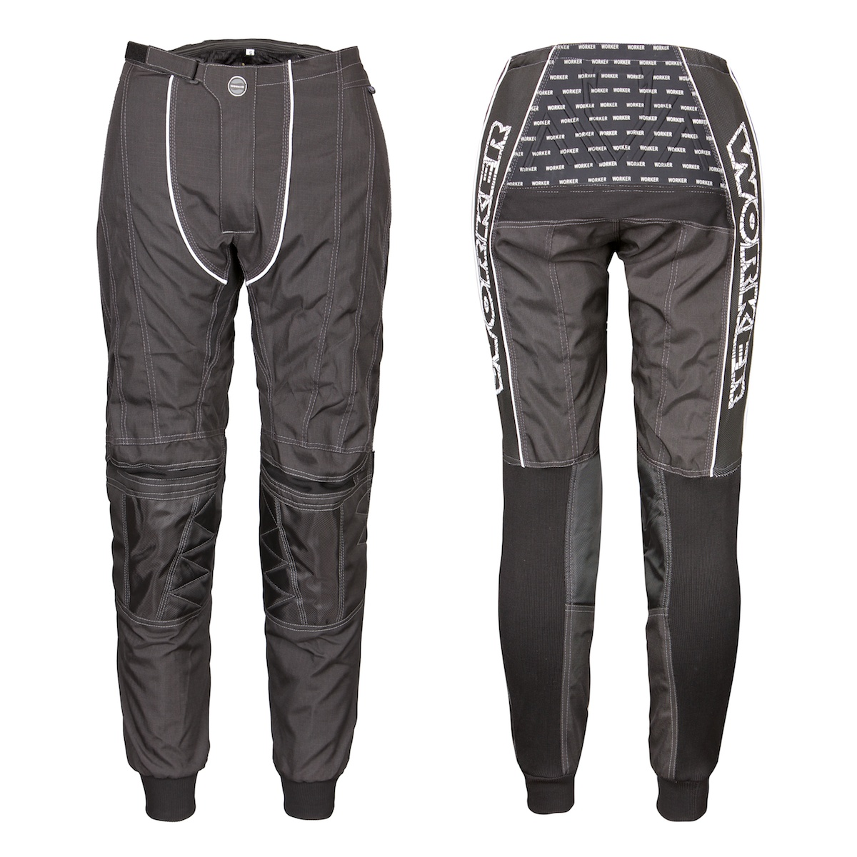 Motokrosové kalhoty WORKER Razzor Junior černá - Junior M (7 - 8 let)