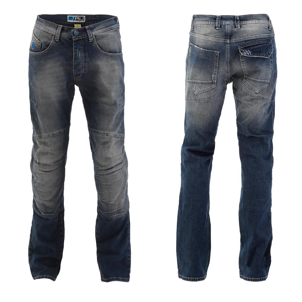 Pánské moto jeansy PMJ Vegas MID modrá - 38