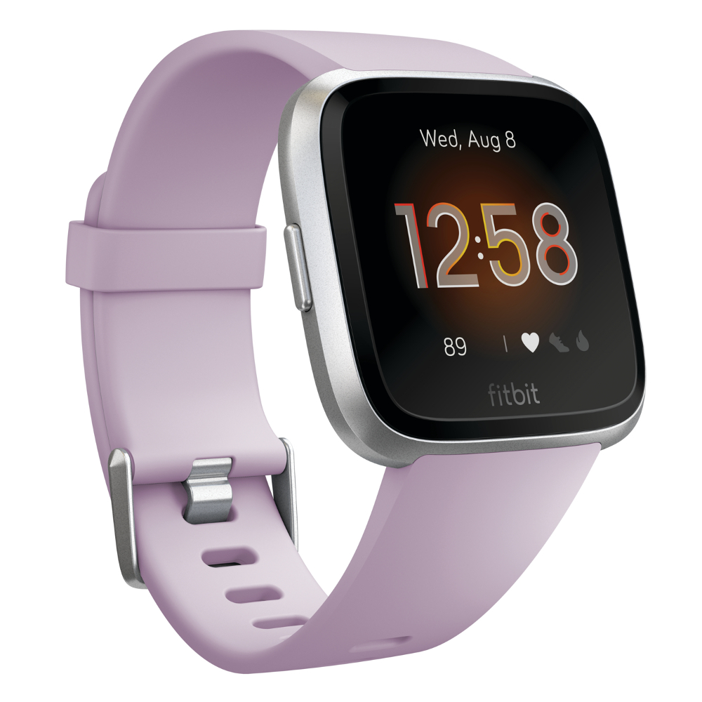 Chytré hodinky Fitbit Versa Lite Lilac/Silver Aluminum