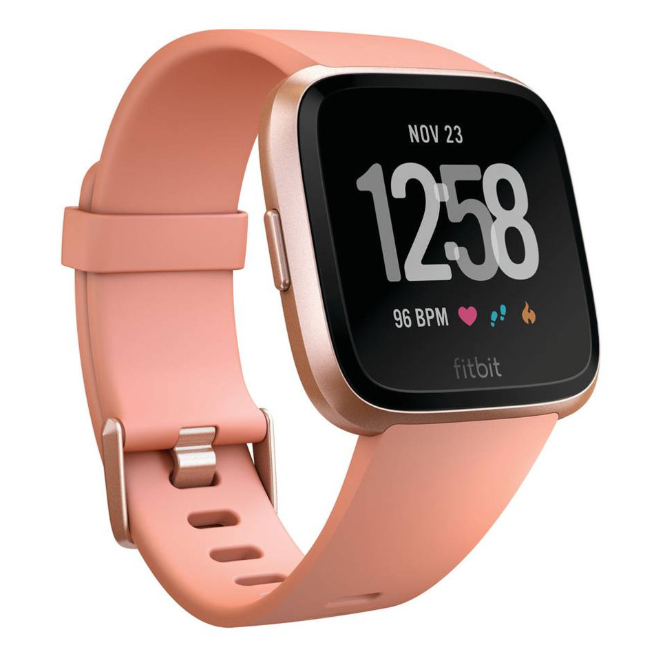 Chytré hodinky FITBIT Versa Peach/Rose Gold Aluminum