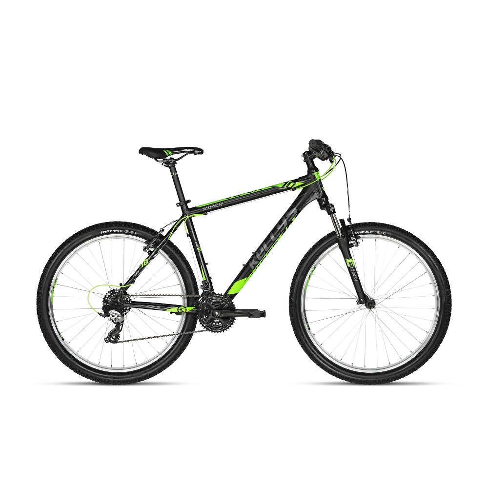 "Horské kolo KELLYS VIPER 10 26"" - model 2018 Black Lime - 13,5"" - Záruka 10 let"