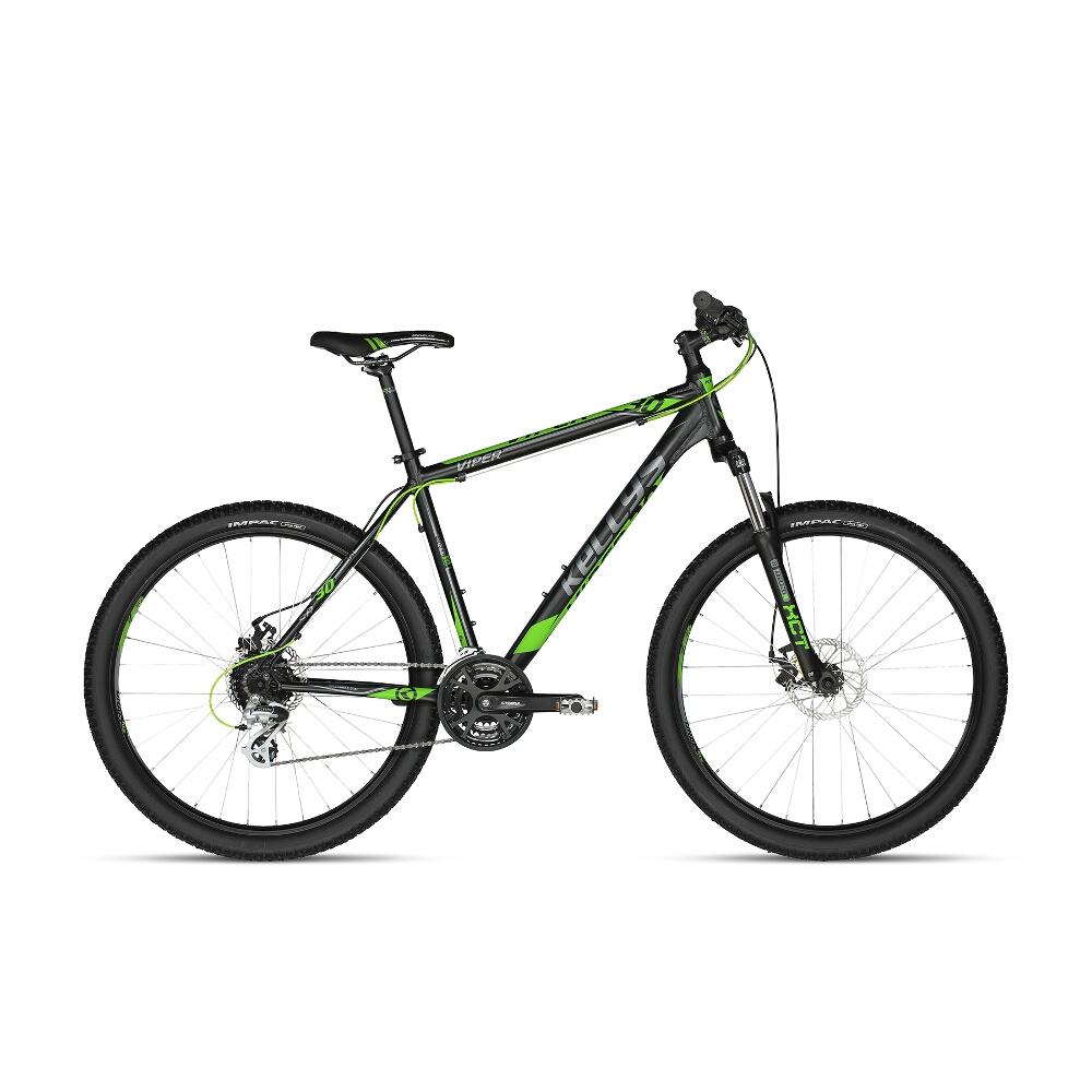 "Horské kolo KELLYS VIPER 30 27,5"" - model 2018 Black Green - 495 mm (19,5"") - Záruka 10 let"