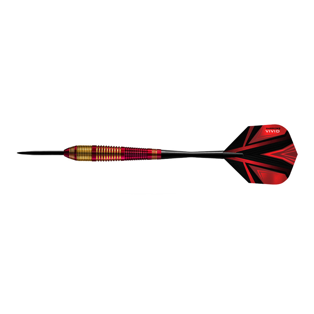 Šipky Harrows Vivid Steel 3ks Red - 22g R