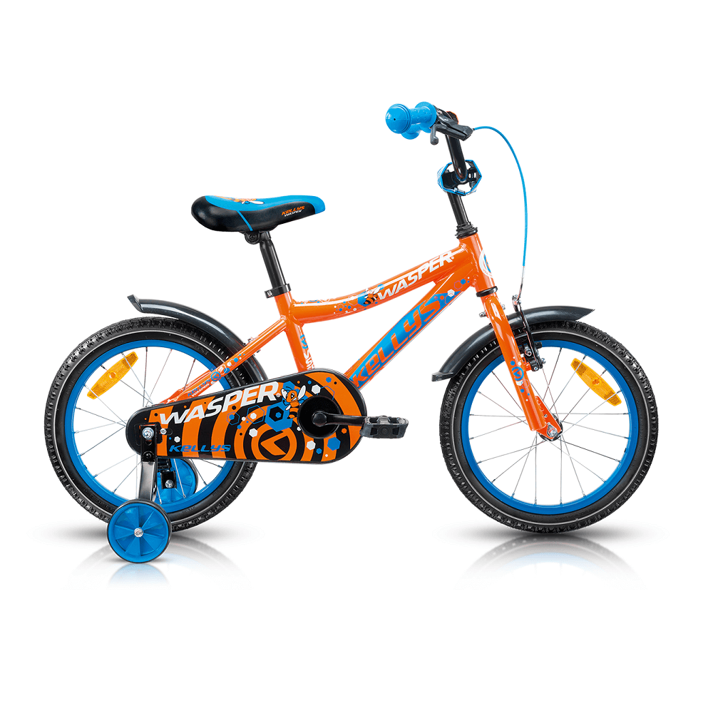 "Dětské kolo KELLYS WASPER 16"" - model 2017 Orange - 245 mm (9,5"") - Záruka 5 let"