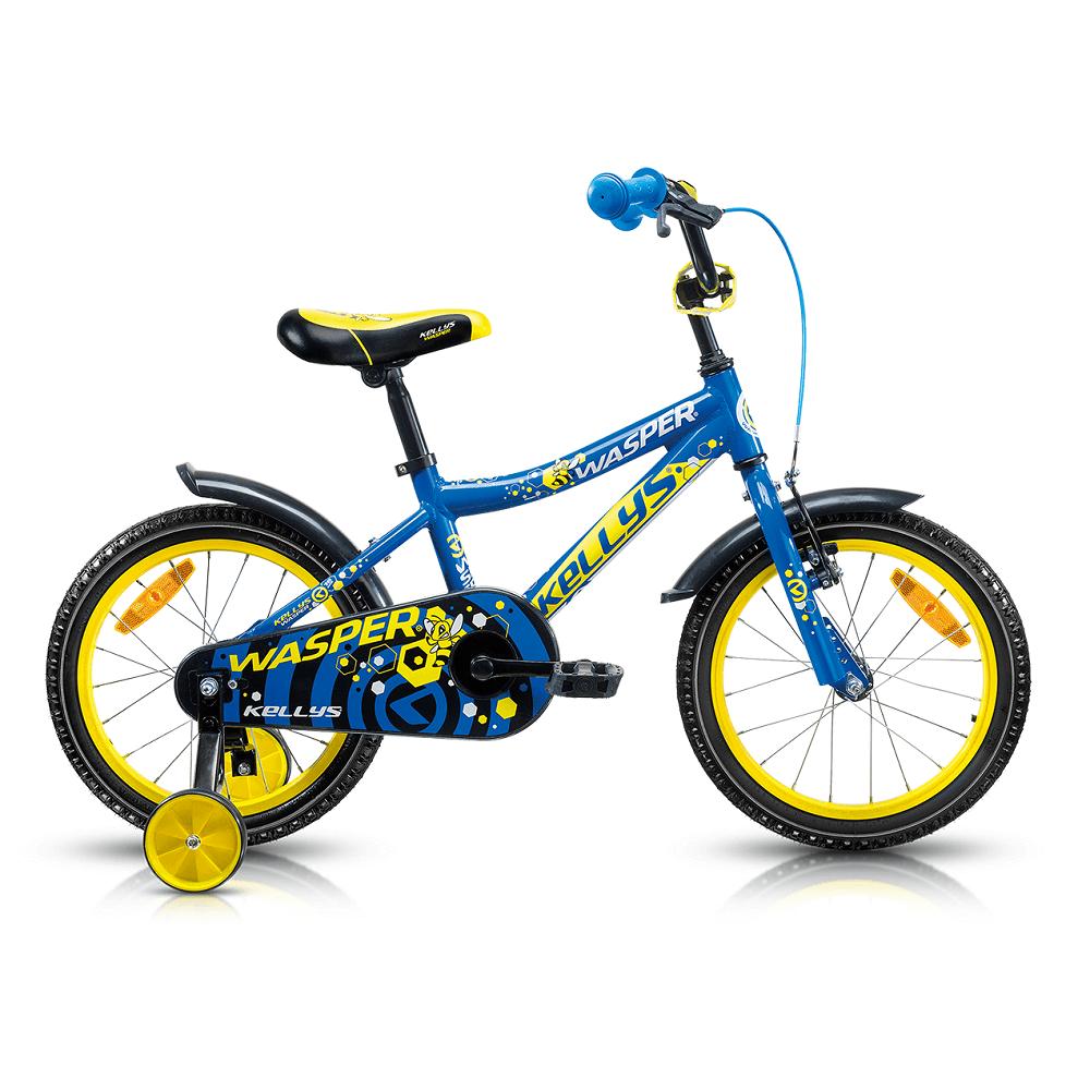 "Dětské kolo KELLYS WASPER 16"" - model 2017 Blue - 245 mm (9,5"") - Záruka 5 let"