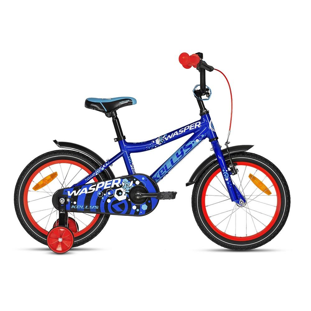 """Dětské kolo KELLYS WASPER 16"""" - model 2018 Blue - Záruka 10 let"""