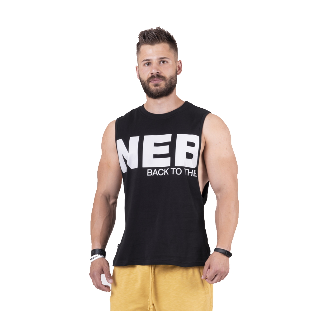 Nebbia Back to the Hardcore tank top 144 Black  L