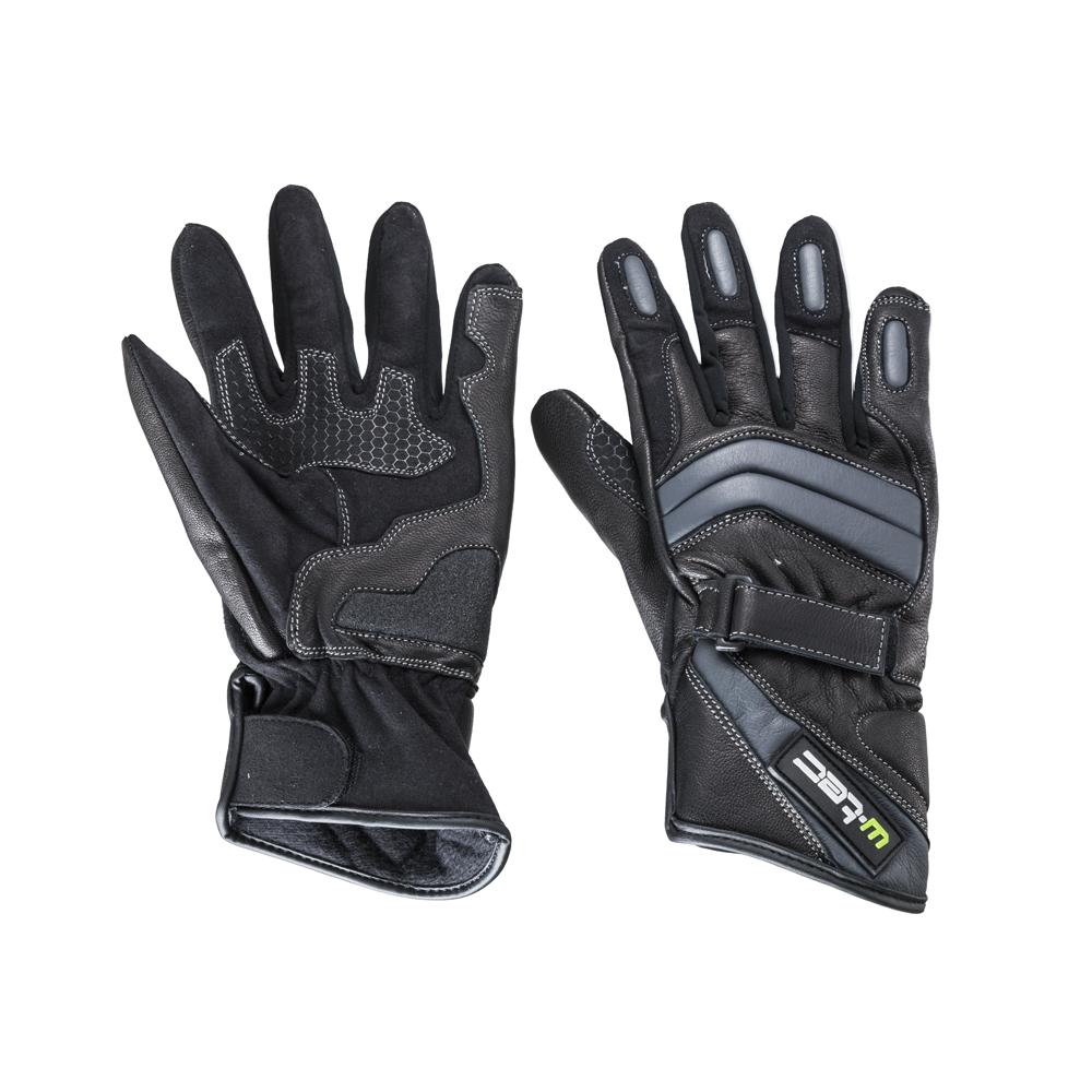 Kožené moto rukavice W-TEC NF-4134 černo-bílá - S