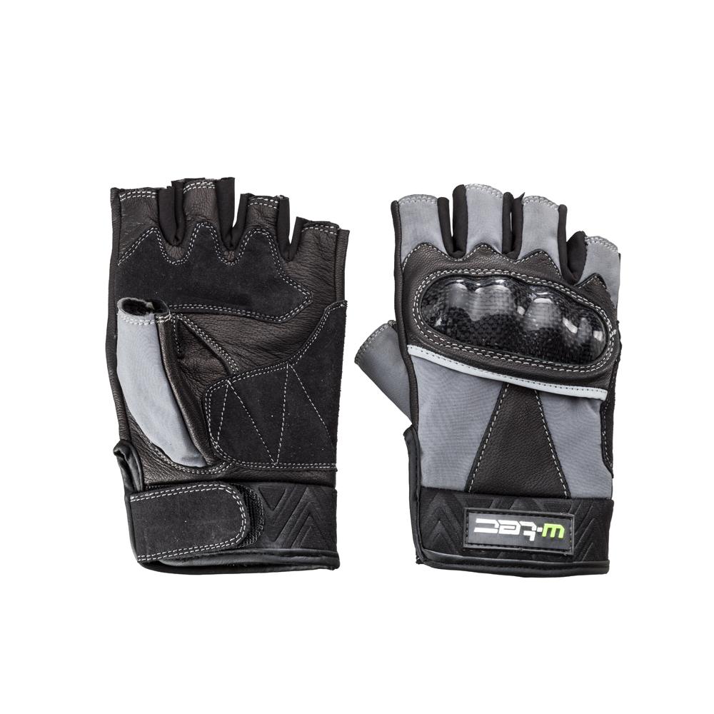 Kožené bezprsté moto rukavice W-TEC Reubal NF-4190 černo-šedá - S