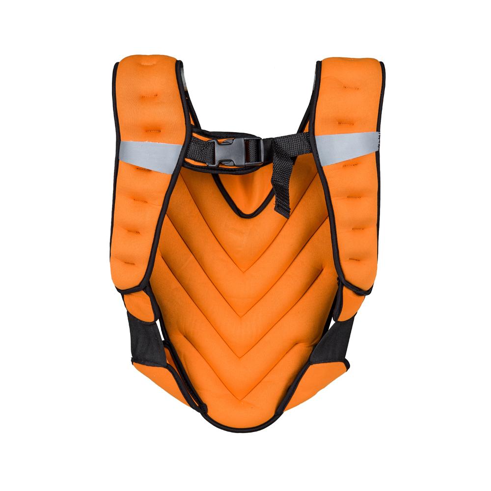 Zátěžová vesta inSPORTline Klaper 5 kg oranžová