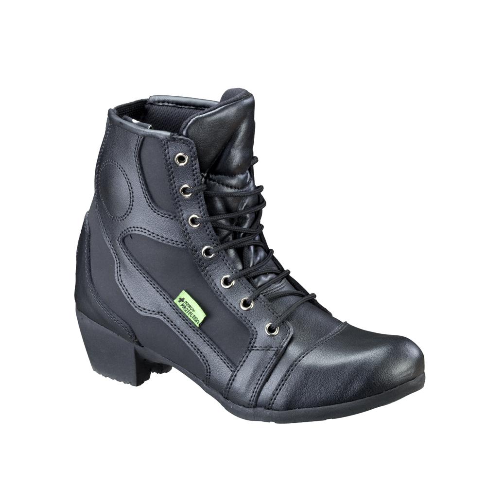 Dámské kožené moto boty W-TEC Jartalia NF-6092 černá - 40 65317f011f