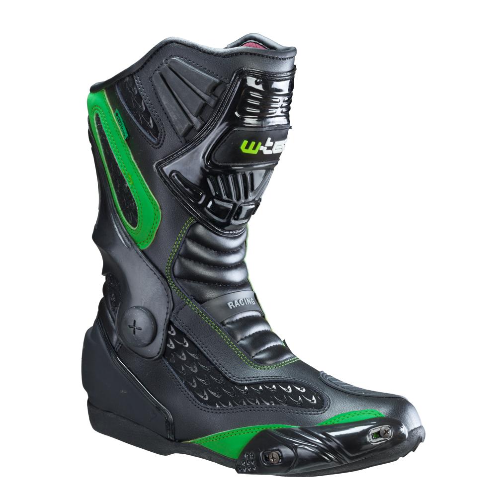 Pánské kožené moto boty W-TEC NF-6003 zelená - 40