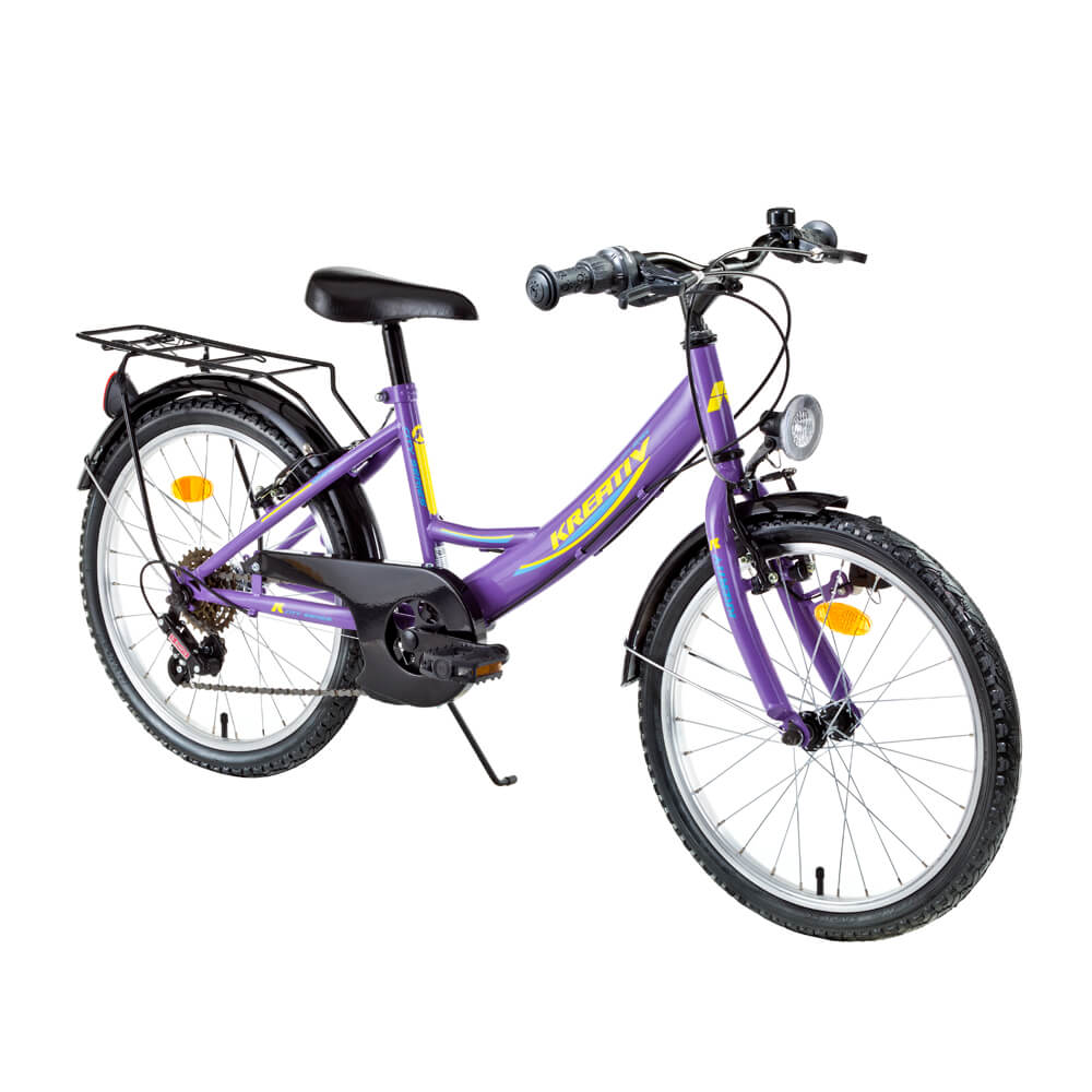 "Juniorské kolo Kreativ 2414 24"" - model 2016 Violet"