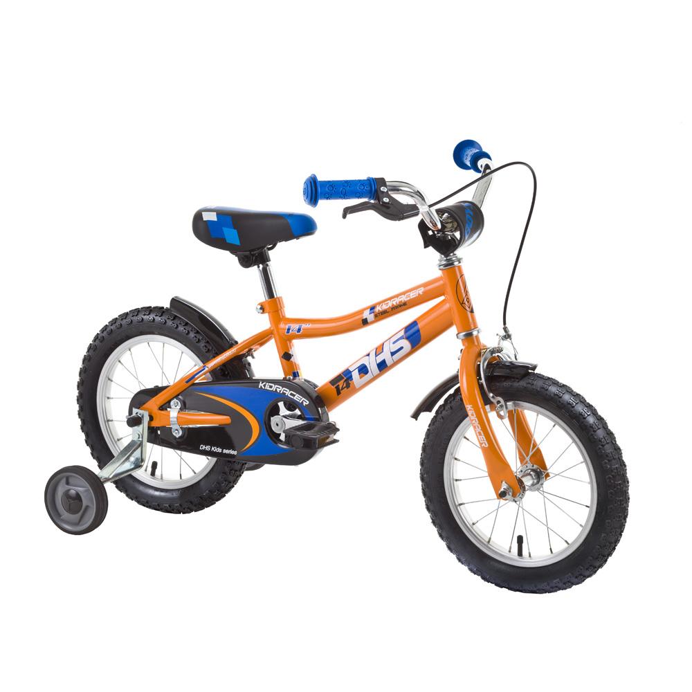 """Dětské kolo DHS Kid Racer 1403 14"""" - model 2015 oranžovo-modrá - 8"""""""