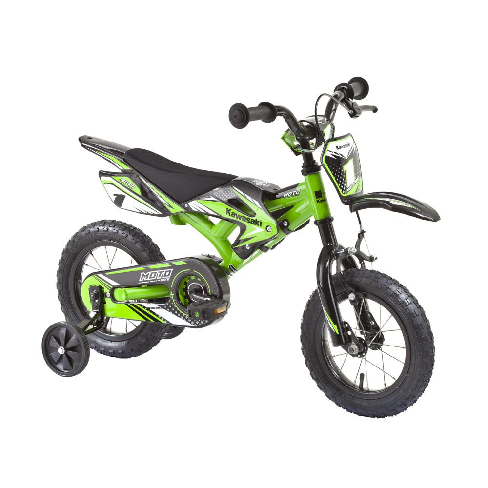 """Dětské kolo KAWASAKI Moto 12"""" - model 2014 zelená"""