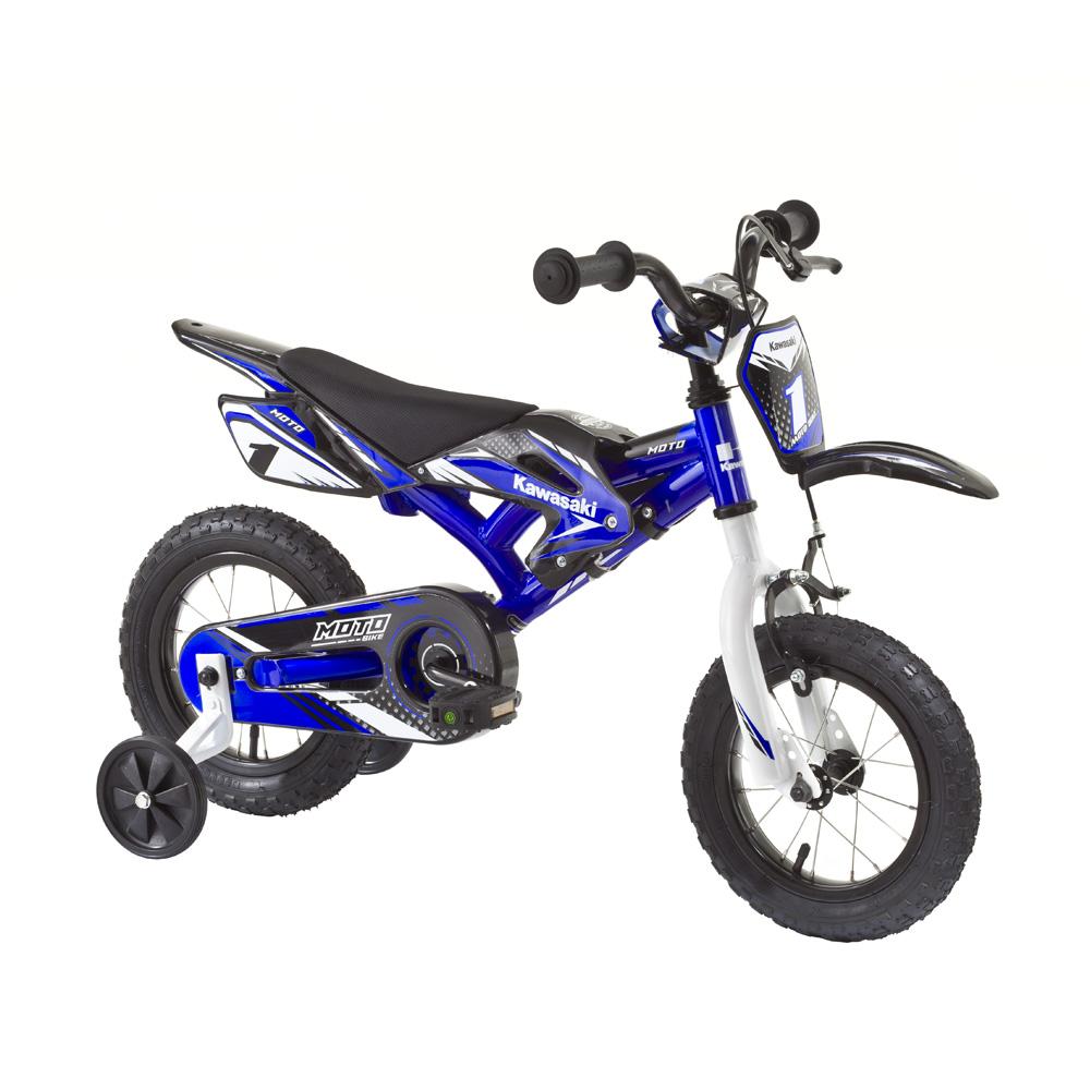 """Dětské kolo KAWASAKI Moto 12"""" - model 2014 modrá"""