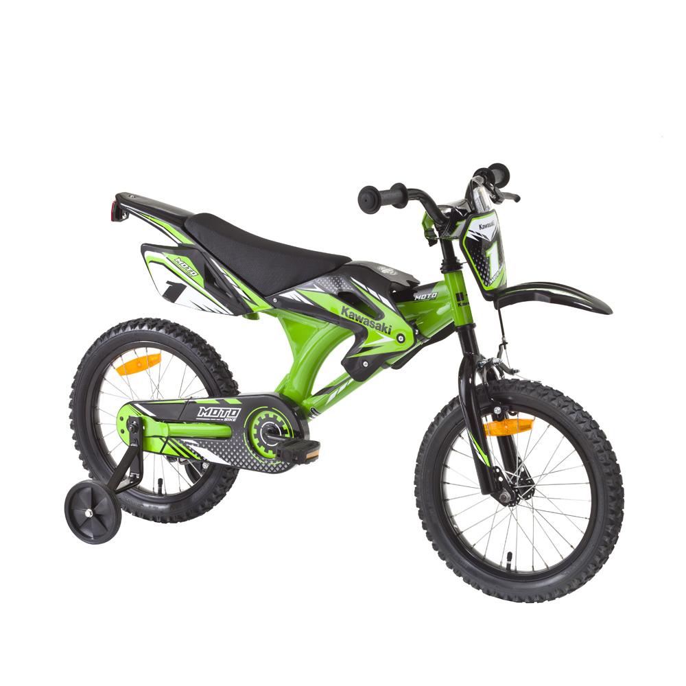 """Dětské kolo KAWASAKI Moto 16"""" - model 2014 zelená"""