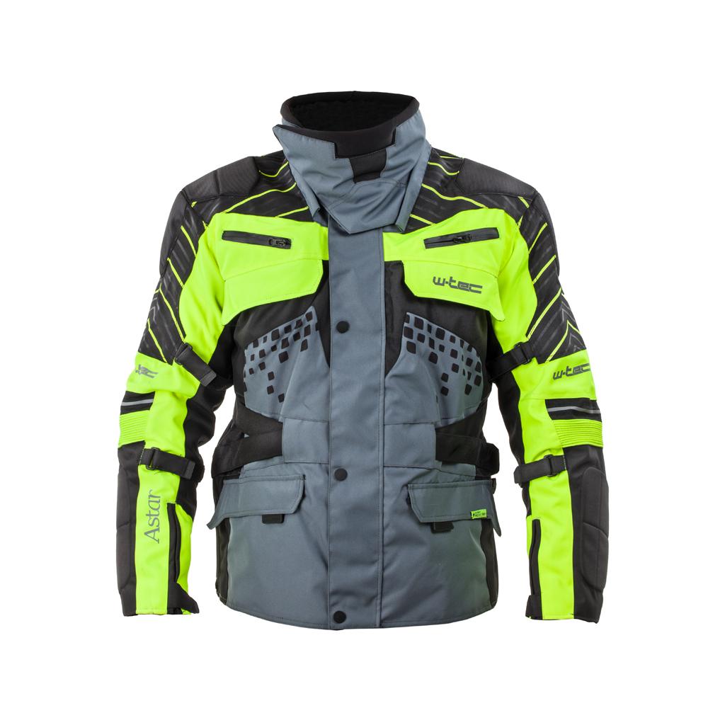 Moto bunda W-TEC Astair černo-šedo-zelená - M