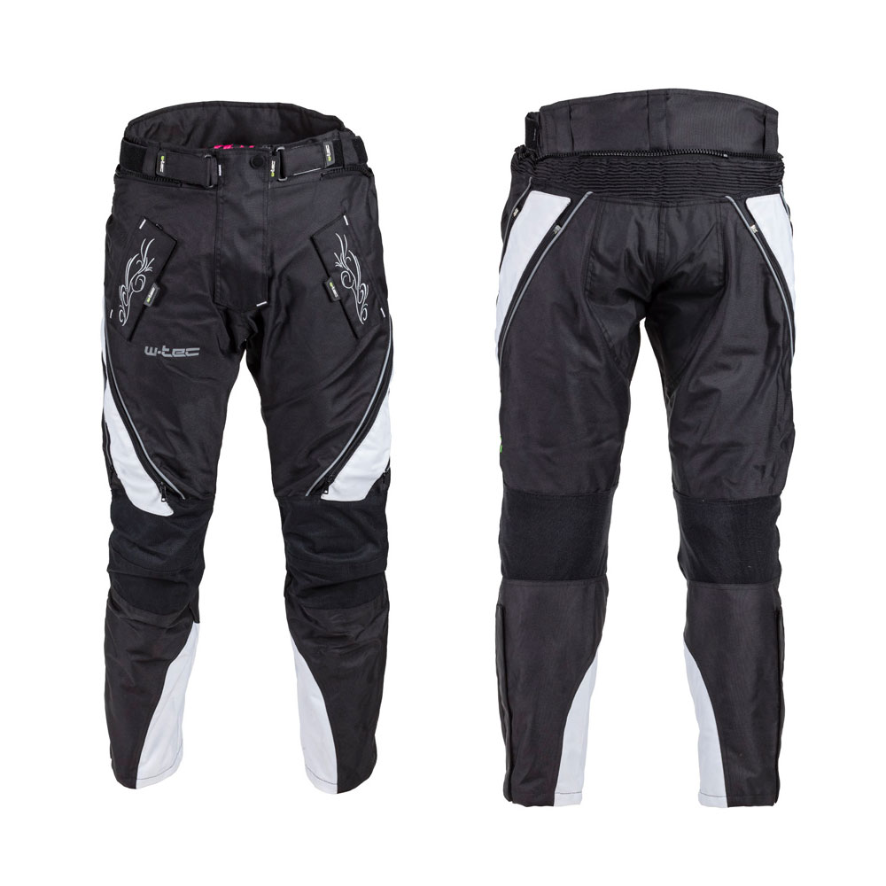 Dámské moto kalhoty W-TEC Kaajla NF-2683 černo-bílá - M