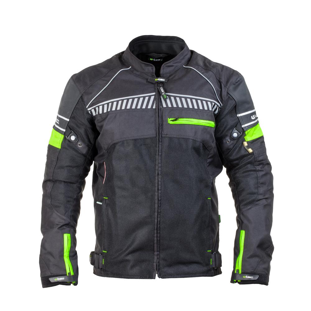Levně Pánská Moto Bunda W-Tec Meltsch Nf-2301 Neon Zelená-Černá 4Xl
