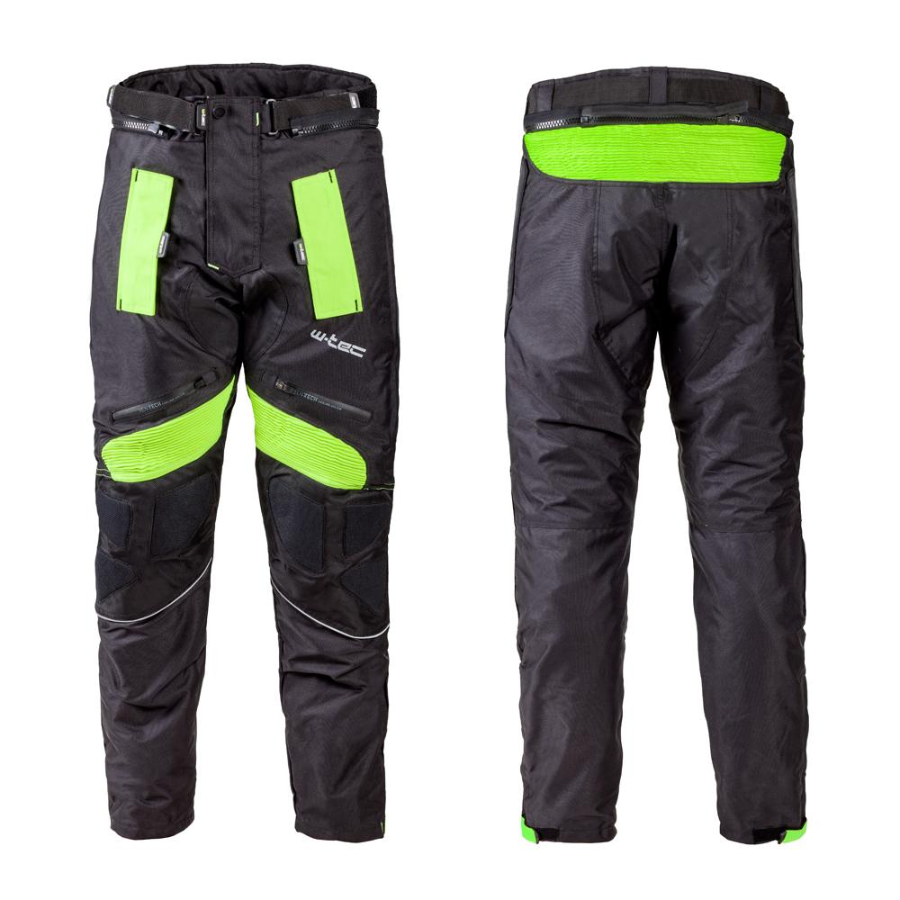 Levně Pánské Moto Kalhoty W-Tec Rusnac Nf-2607 Černo-Zelená 3Xl