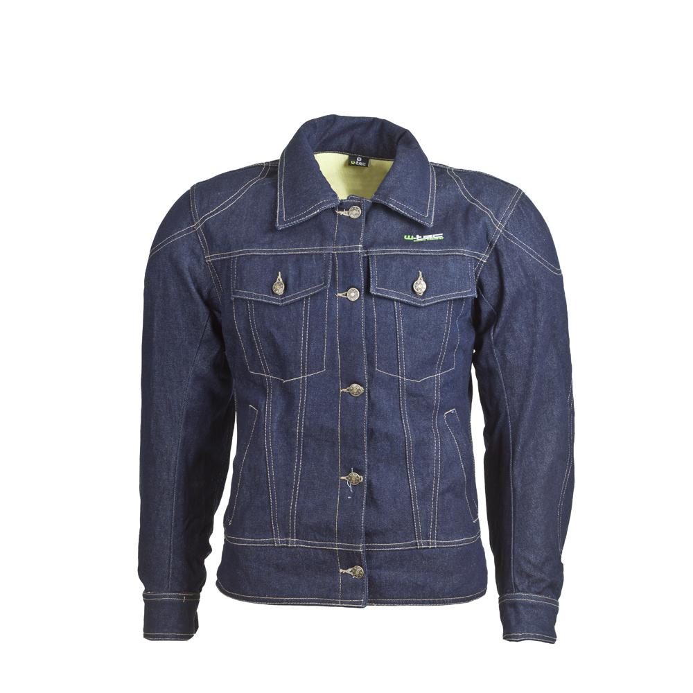 Dámská jeansová moto bunda W-TEC NF-2980 tmavě modrá - M